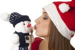 Bacio del nuovo anno Immagini Stock Libere da Diritti