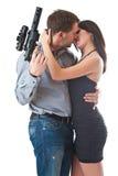 Bacio del pericolo immagini stock libere da diritti