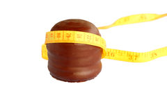 Bacio della gomma piuma del cioccolato con nastro adesivo Fotografia Stock Libera da Diritti