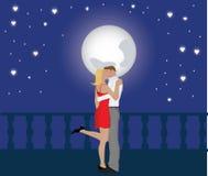 Bacio della stella del biglietto di S. Valentino Fotografia Stock