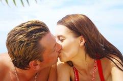Bacio di estate fotografia stock