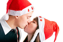 Bacio di natale Fotografia Stock Libera da Diritti