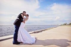 Bacio di nozze Immagini Stock