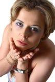Bacio di salto della donna bionda fotografie stock