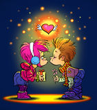 Bacio di San Valentino Fotografia Stock