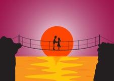 Bacio di tramonto Fotografie Stock Libere da Diritti