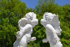 Bacio di un angelo Immagini Stock Libere da Diritti