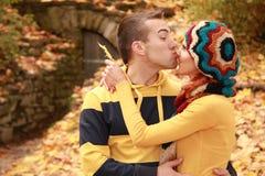 bacio divertente Immagini Stock