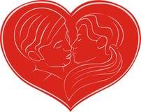 bacio in focolare Immagine Stock Libera da Diritti