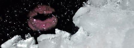 Bacio freddo Bacio del ghiaccio Astrazione Fotografie Stock