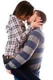 Bacio lungo fotografia stock libera da diritti