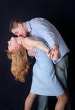 Bacio nel ballo Fotografia Stock Libera da Diritti