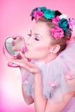 Bacio romantico Fotografia Stock