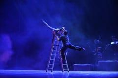 Bacio sull'identità della scala- del dramma di ballo di mistero-tango Immagine Stock