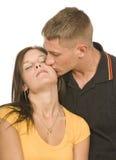 Bacio tenero Immagine Stock