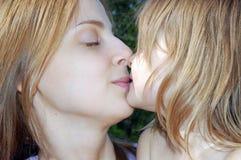 Bacio tenero Fotografia Stock