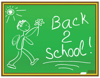 Back 2 school message. On a chalkboard Stock Images