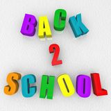 Back 2 School - Refrigerator Magnets Stock Image