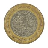 Back of 5 Peso Coin. This is a detailed image of the back of a 5 peso coin Stock Photo