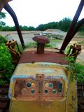 Old Rusty Bulldozer royalty free stock images