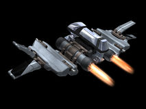 Back and above view of a StarFighter in action Royalty Free Stock Photos