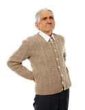 Back ache of older man Stock Photo