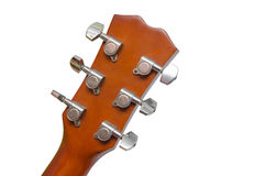 Back of acoustic guitar head Stock Photos