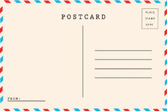 Back of airmail Stock Images