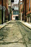 Back Alley. A decrepit back alley in Philadelphia, PA Stock Images