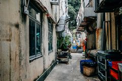 Free Back Alley Of Restaurant At Lamma Island Village In HongKong Stock Photography - 99400612