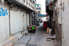 Back alley in sai kung Stock Photo