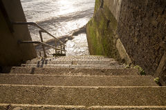 Back Alley Staircase to the Thames. Stock Photo