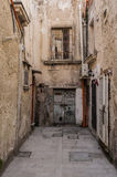 Back alley in Syracuse. A cul de sac in Ortigia, Syracuse, Sicily, Italy Royalty Free Stock Photo