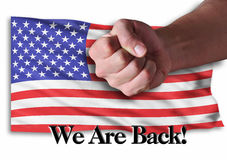 We are Back. America is back and very strong Royalty Free Stock Image