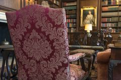 Antique fabric chair Royalty Free Stock Photography
