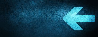 Back arrow icon special blue banner background stock illustration