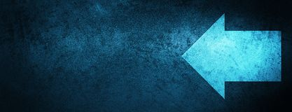 Back arrow icon special blue banner background royalty free illustration