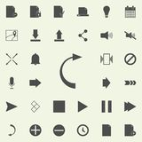 back arrow icon. web icons universal set for web and mobile royalty free illustration