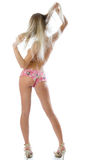 Back and ass of beautiful woman. Royalty Free Stock Image