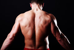 Back of attractive sportsman Stock Images