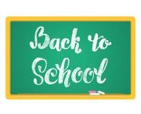 back background chalkboard school to 递在白垩的字法题字在黑板 免版税图库摄影