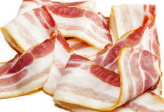 Back Bacon. Britiish back bacon joint with slices. Highly detailed texture int he slice royalty free stock image