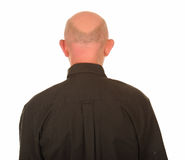 Back of bald headed man royalty free stock photo