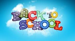 back balloons school to 库存例证