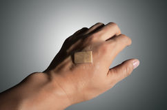 On the back of the band-aid Royalty Free Stock Image