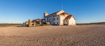 Back of the baroque church in the Sanctuary of Nossa Senhora do Cabo Stock Photo