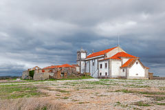 Back of the baroque church in the Sanctuary of Nossa Senhora do Cabo Stock Image