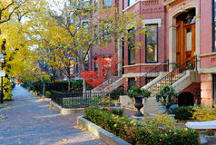 Back Bay, Boston. Back Bay residential district in the fall Stock Photo