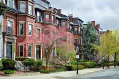 Back Bay Boston in the Spring royalty free stock images