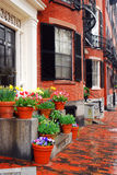 Back bay Boston in Spring Royalty Free Stock Photo